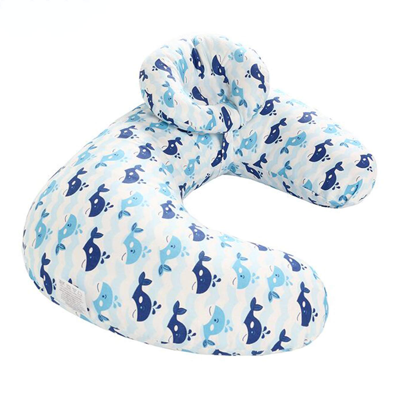 Borje New Design 45°Angle Newborn Breastfeeding Adjustable Pillow for Babies Nursing Baby Lounger (Whale)