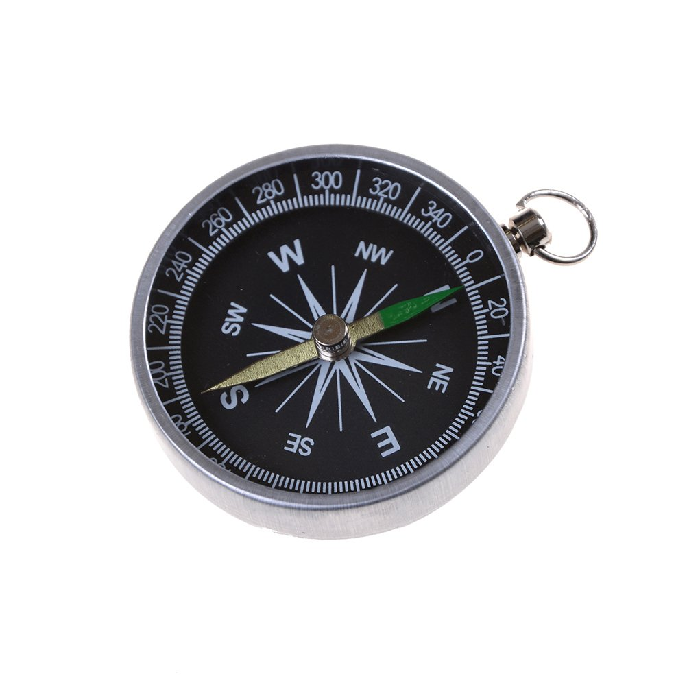 7thLake Pocket Compass for Hiking Camping Traveling Outdoor - Keychain - Portable Round Compass by 7thLake (Image #3)