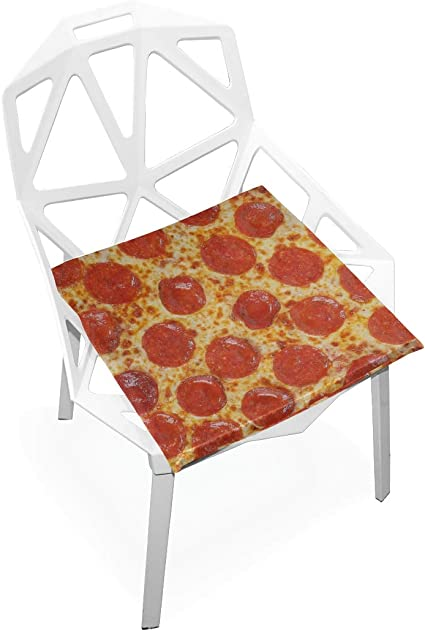 Desk Chair Cushion Set Fresh Italian Classic Original Pepperoni Pizza Bac Soft Non Slip Memory Foam Chair Pads Cushion Seat For Home Kitchen Desk 16 X 16 Inch Desk Kis Amazon De Kuche