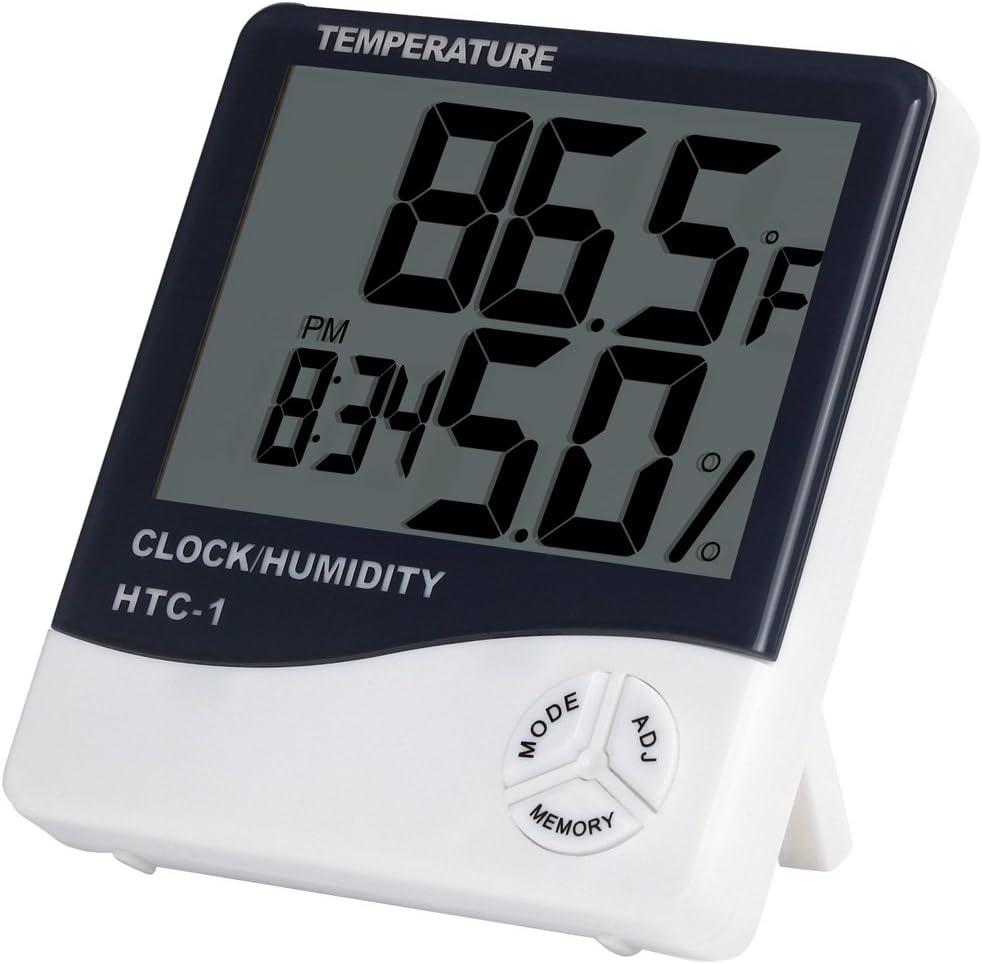Anpro Termómetro Higrómetro Digital/Higrómetro Digital Medidor Temperatura y Humedad