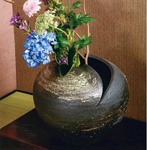 信楽焼 刷毛目花瓶12号(全高31cm×全幅37cm) B07DGGB6CJ
