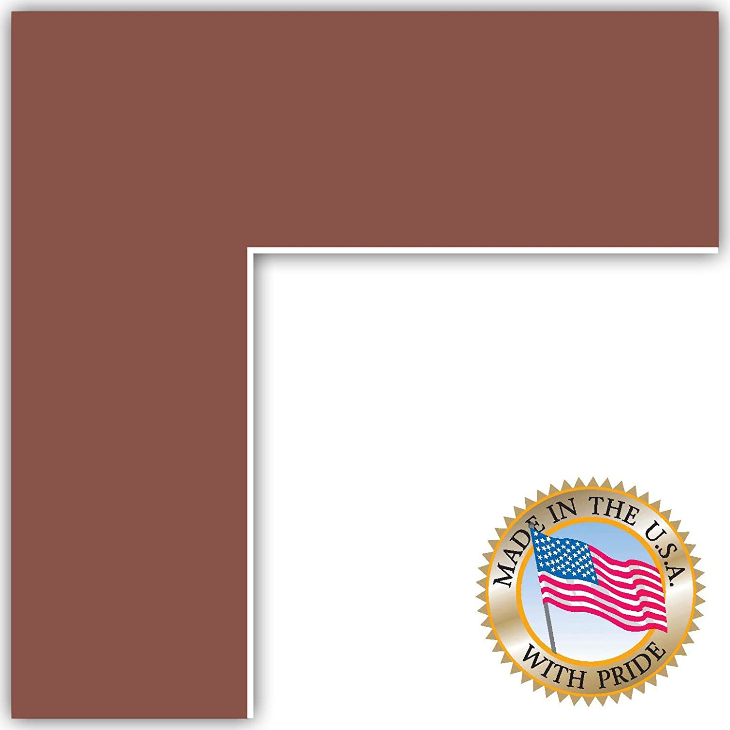 Amazon Com 15x21 Brique Custom Mat For Picture Frame With