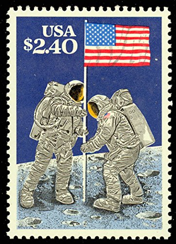 $2.40 Moon Landing Priority Mail Postage Stamp - Mint NH Scott 2419