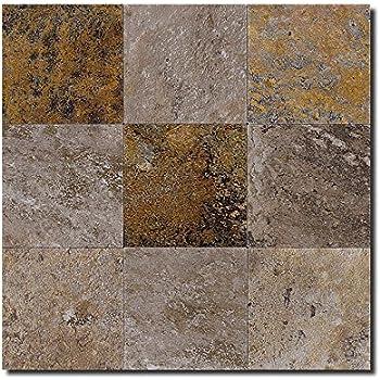 Amazon Com Ecoslate Peel N Stick Slate Veneer Wall Tile