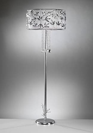 tredici Diseño Cristal Lámpara de pie Marigold Flora en hojas ...