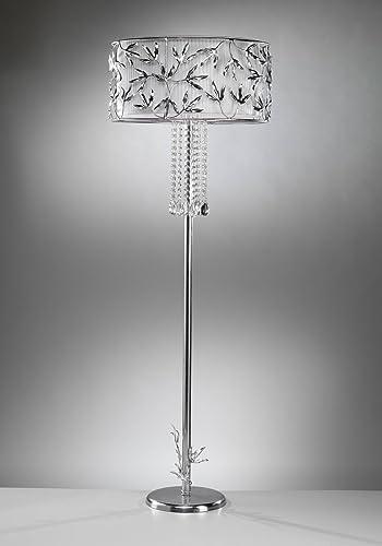 tredici Diseño Cristal Lámpara de pie Marigold Flora en ...