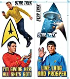 Popfunk Star Trek Collectible Stickers with Captain Kirk, Spock, Scotty, The Command Delta Shield