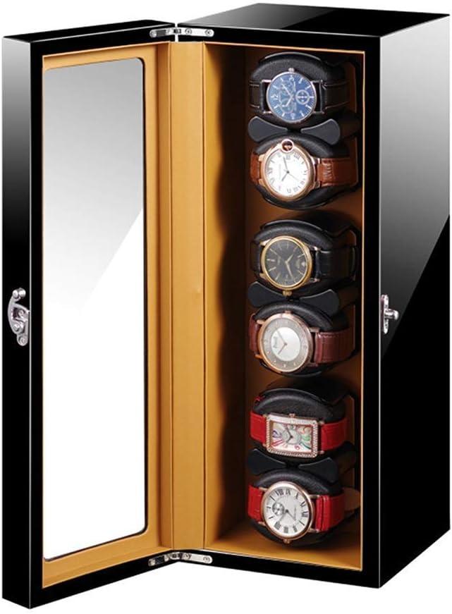 N\C Enrollador automático de Reloj Almohada de Reloj Suave y Flexible Adaptador de CA y Pintura de Piano Negra con Pilas Exterior