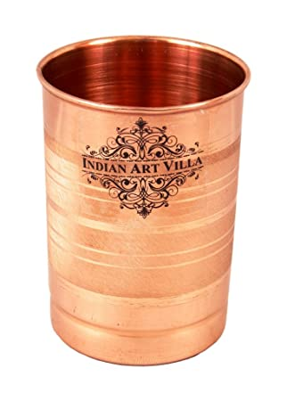 Indian Art Villa Copper Glass Tumbler, Drinkware