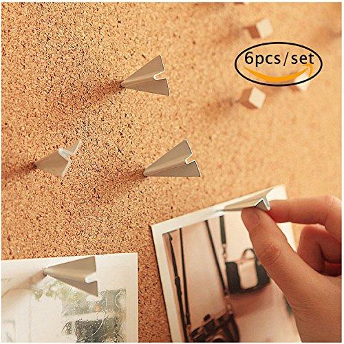 Paper Airplane Push Pin, Fantastic_008 Thumbtacks Push Pins Metal for Home Office Cork Board / Bulletin Board Creative Novelty Office Gadget Home Decorative, 6pcs/set - Business Push Pins