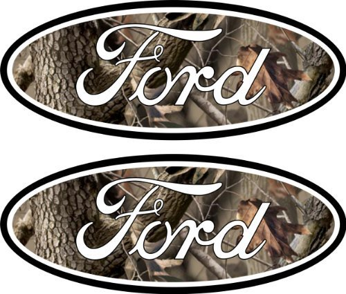 F350 Camo - 2 Camouflage Ford Emblem Decals Stickers 04-11 Ranger F150 F250 F350 4x4 Camo Sd
