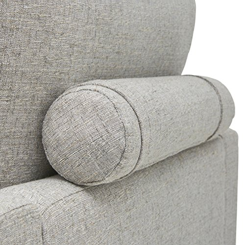 Rivet Cove Modern Tufted Accent Chair with Tapered Legs, Mid-Century, Light Grey - 3