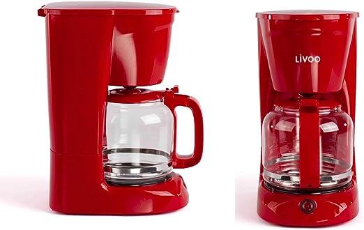 Cafetera de goteo con jarra de cristal para 15 tazas, función de mantenimiento en caliente (cafetera, cucharilla de café, apagado automático, indicador de nivel de agua): Amazon.es: Hogar