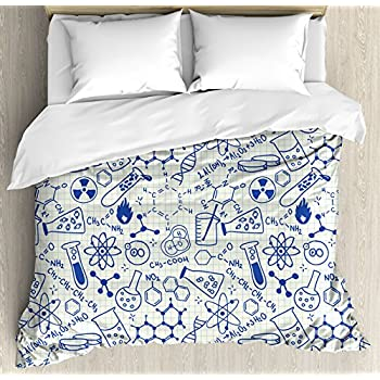 Amazon periodic table duvet cover set by ambesonne kids decor duvet cover set by ambesonne science chemistry geometry math nerd geek genius themed urtaz Image collections