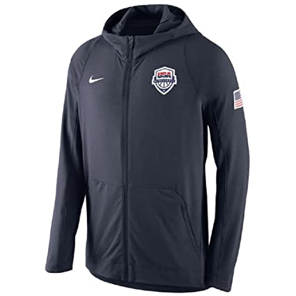 7b0333a52339 Amazon.com  Nike Men s USA Basketball Navy Hyper Elite Full-Zip Hoodie  Large  Sports   Outdoors
