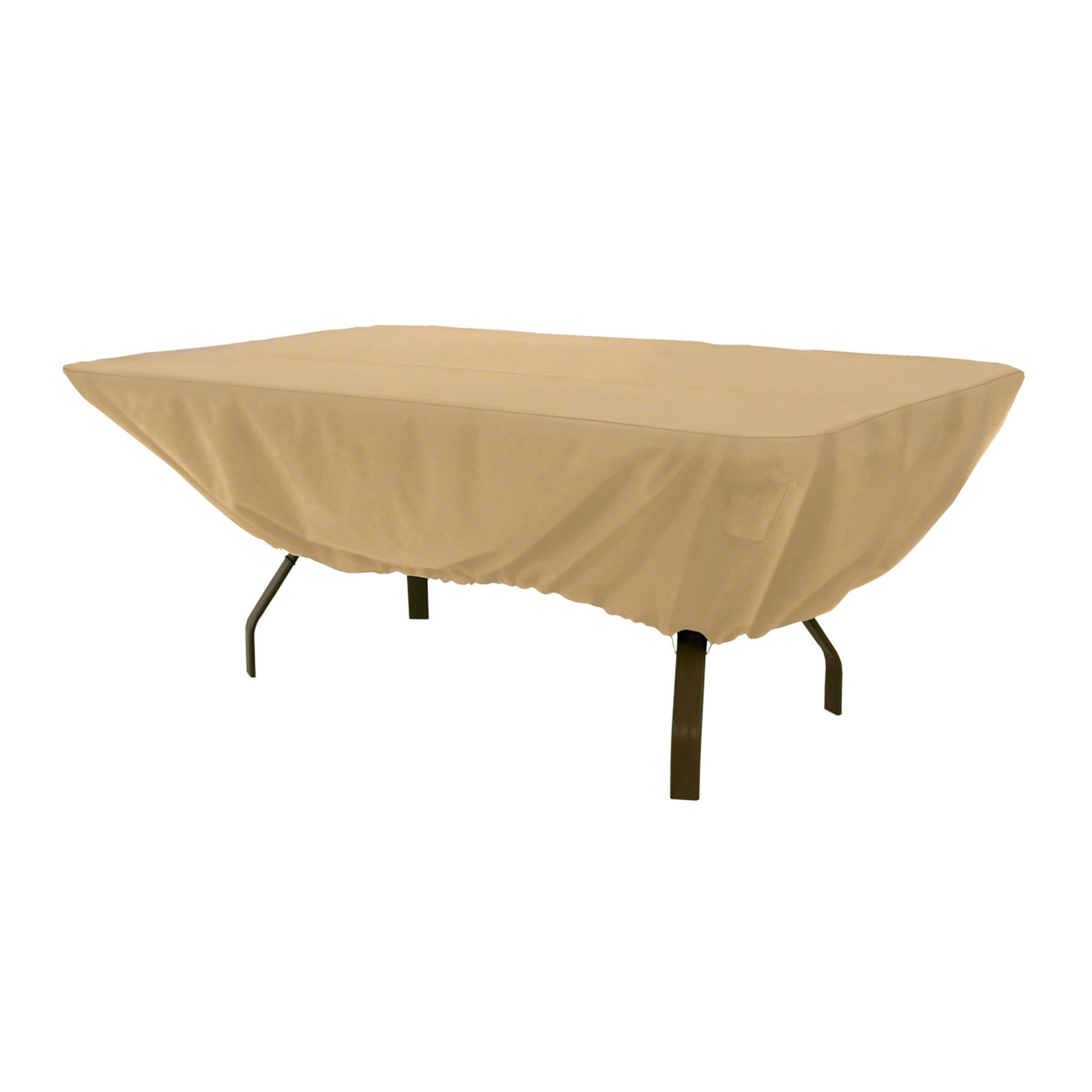 Classic Accessories Terrazzo Rectangular/Oval Patio Table Cover - All Weather Protection Outdoor Furniture Cover