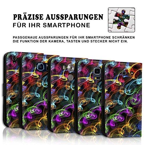Wallet Book Style Flip Handy Tasche Case Schutz Hülle Schale Motiv Etui für Apple iPhone 6 / 6S - Design Flip MV231