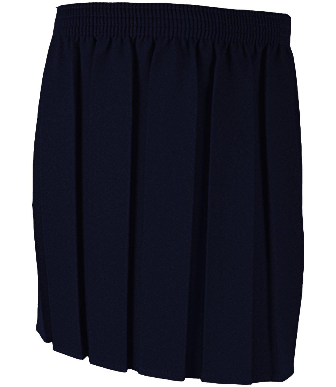 adam & eesa Girls School Box Pleated Skirt - Black Grey Navy - School Uniform Skirts Age