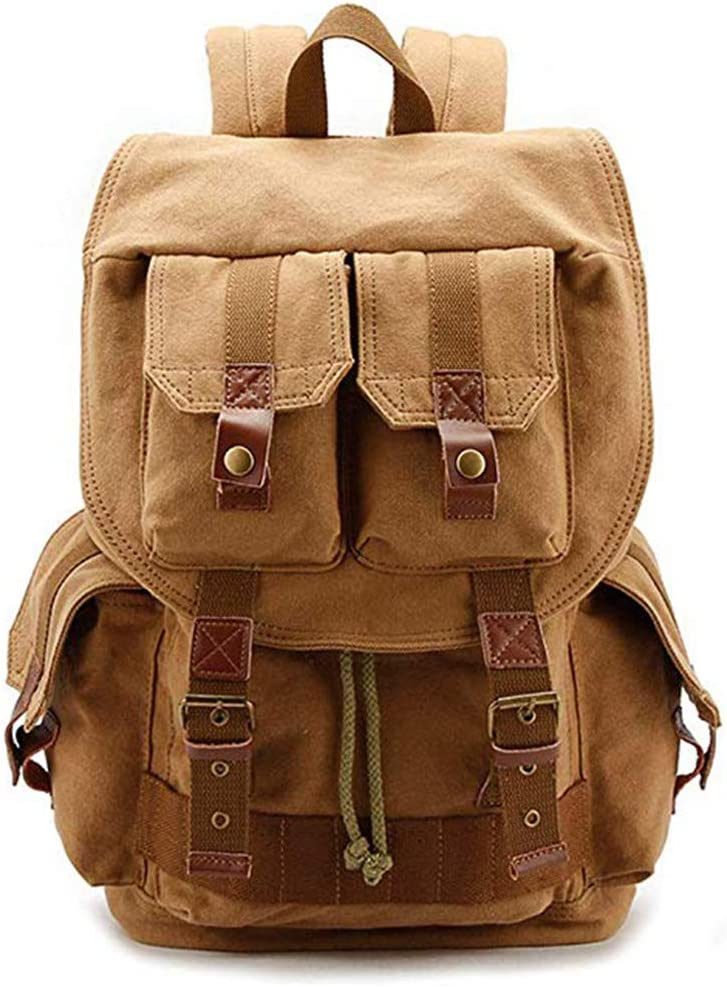SHZJZ-BP Large Capacity SLR Camera Bag for Men with Double Shoulder Photography Canvas Bag Take It on A Long Journey