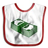 Money Bibs Saliva Towel Cotton Baby Healthy Towel Red