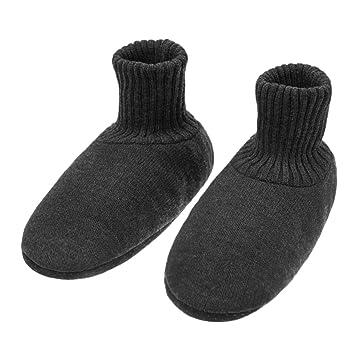 7def940b461ed6 メンズ靴下 ルームソックス 編み物 室内履き 自宅仕事用 ニット 暖かい もこもこ 寒気防止 両足