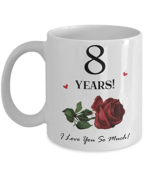 8 Anniversario Di Matrimonio.Ottavo Anniversario Di Matrimonio Tazza Regalo Per Lui O Lei 8