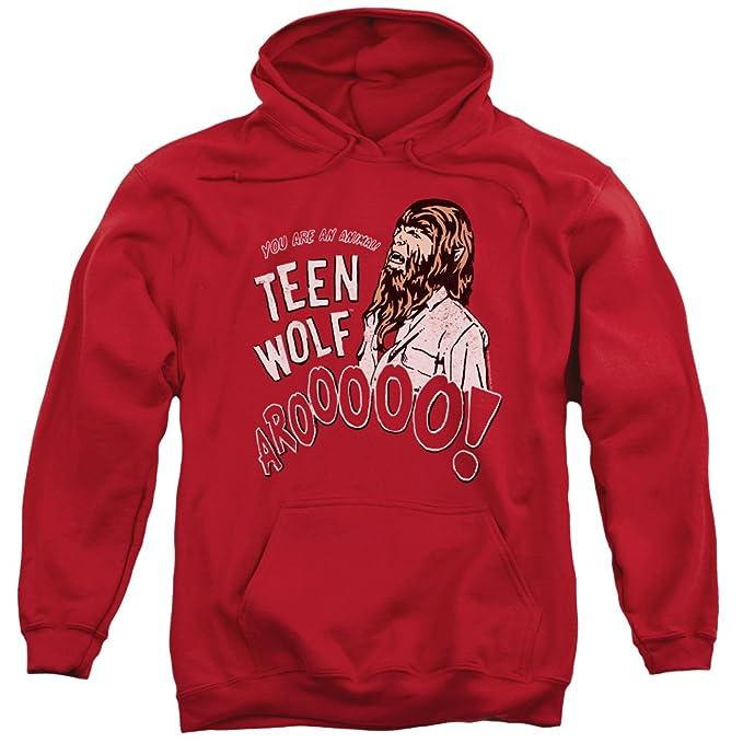 Teen Wolf - Sudadera con capucha - para hombre rojo rosso Medium: Amazon.es: Ropa y accesorios