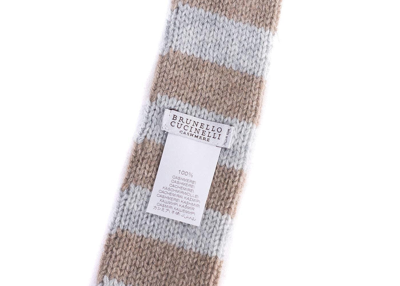 Brunello Cucinelli Mens Cashmere Striped Two Tone Tie One Size~Retail $295