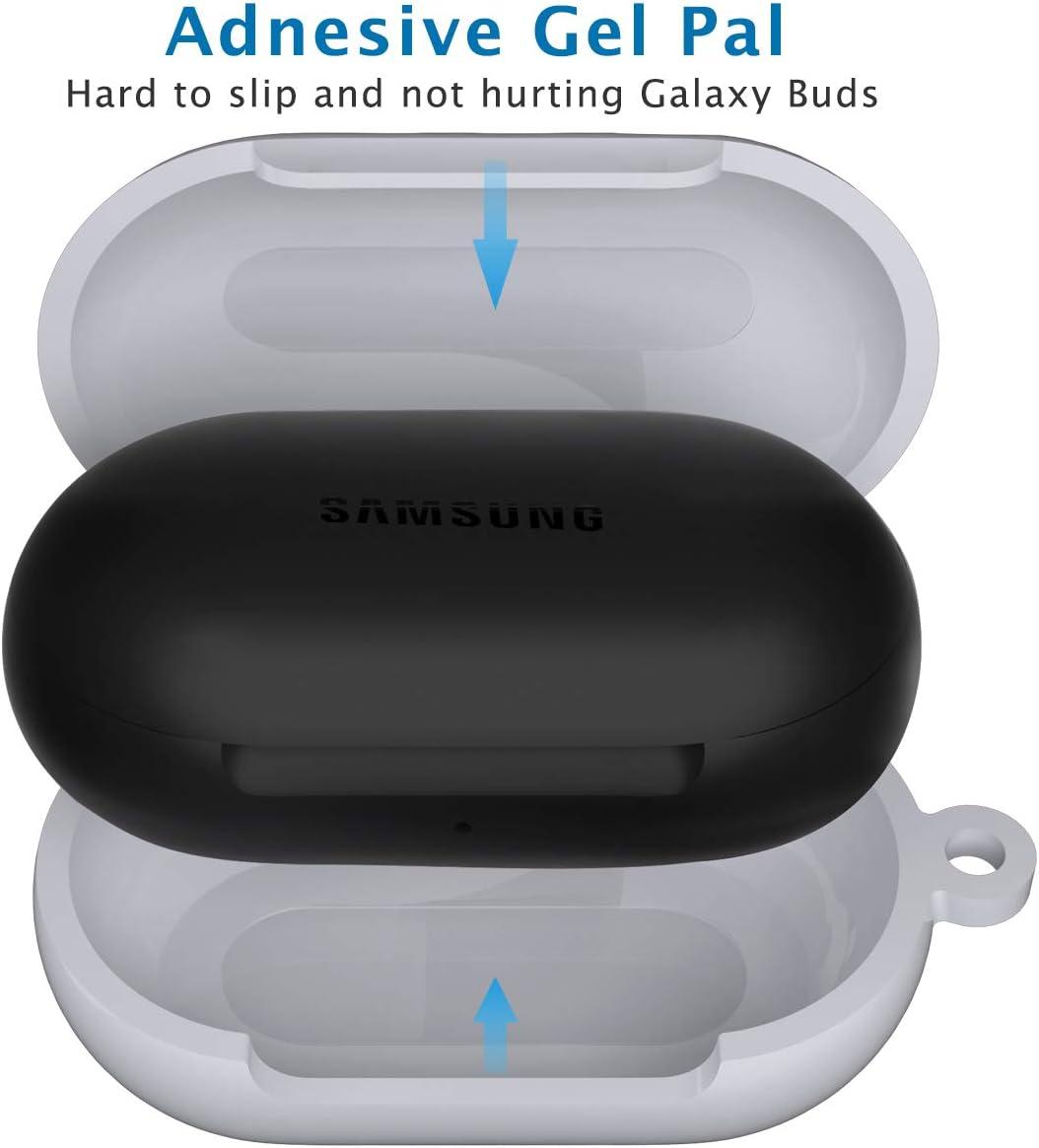 Galaxy Buds 2019,Funciona con Carga Inal/ámbrica,LED Frontal Visible,Negro Plus 2020 KMMIN 5 en 1 Carcasa Protectora Silicona para Samsung Galaxy Buds Funda de Silicona para Galaxy Buds