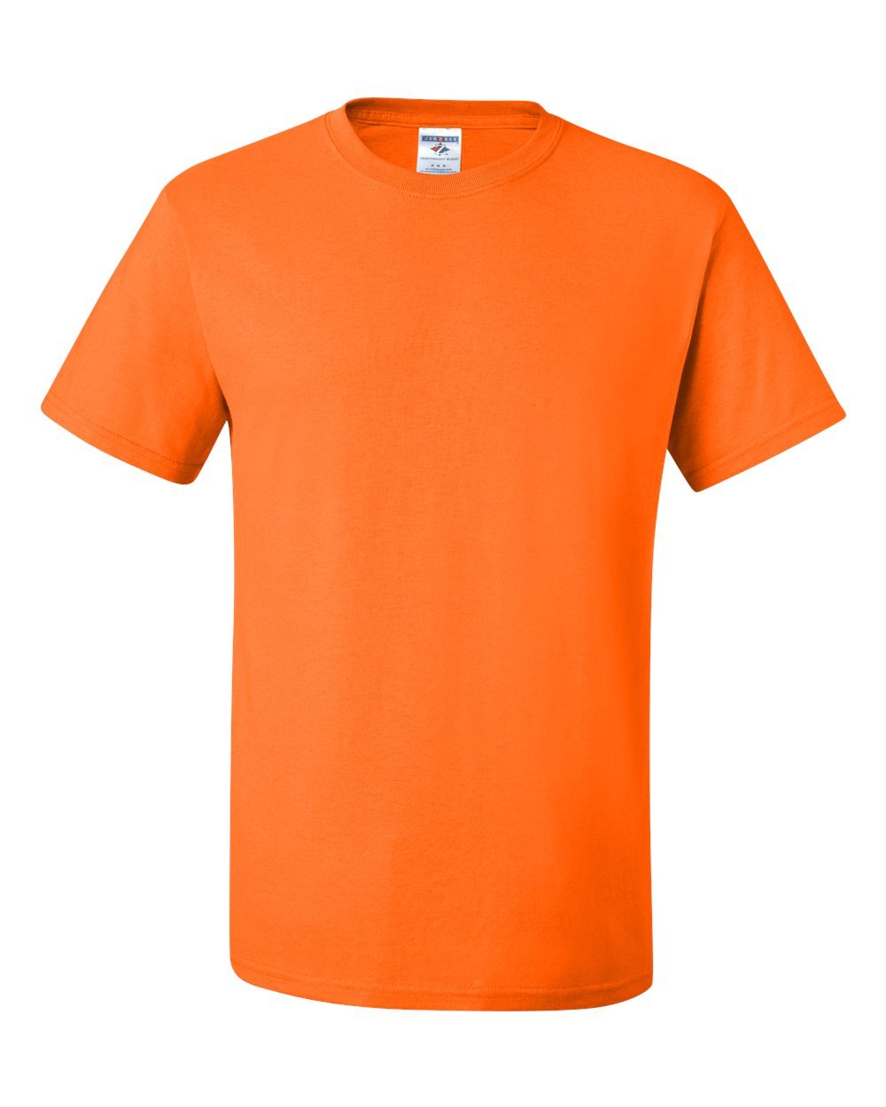 Jerzees mens 5.6 oz. 50/50 Heavyweight Blend T-Shirt(29M)-SAFETY ORANGE-5XL-3PK