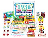 Woodstock Candy ~ 1936 83rd Birthday Gift Box of Nostalgic Retro Candy from Childhood for 83 Year Old Man or Woman Born 1936