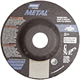Norton Metal Depressed Center Abrasive Wheel, Type 27, Aluminum Oxide, 7/8'' Arbor, 4-1/2'' Diameter x 1/8'' Thickness (Pack of 25)