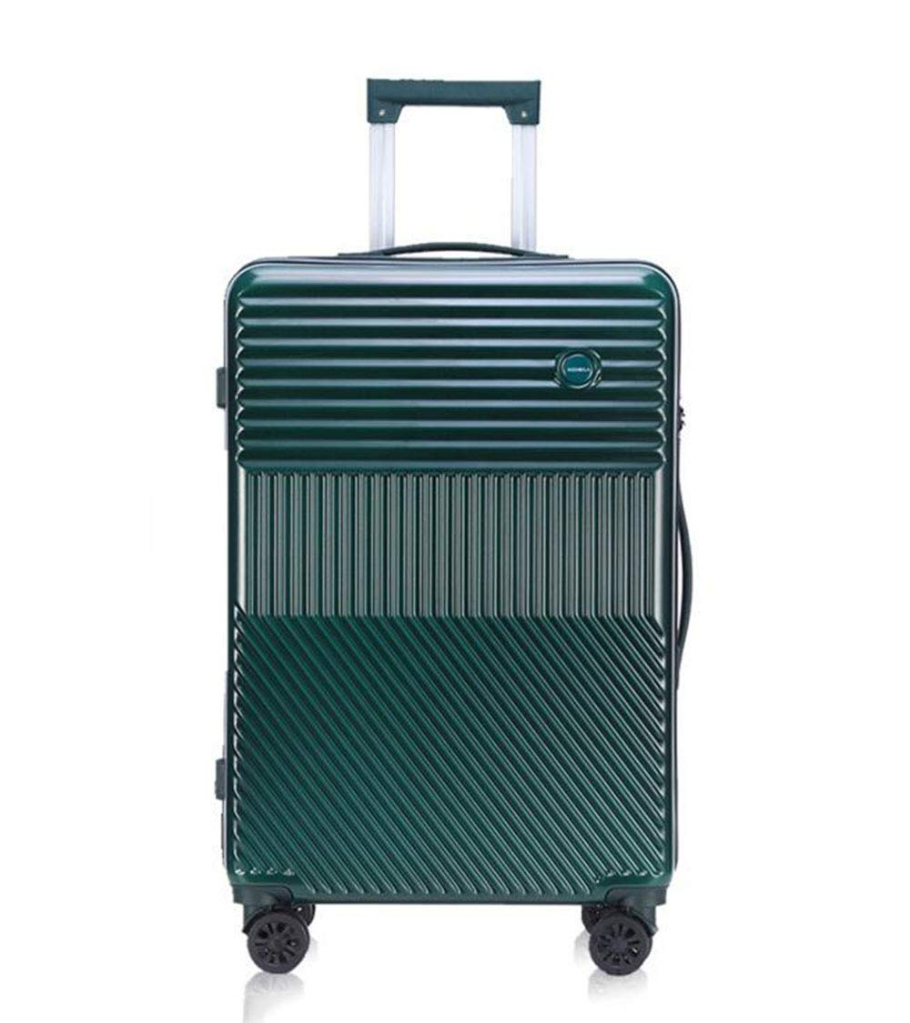 Green 360-degree Universal Wheel Suitcase Pc Material 20 Business Trolley Case Mens And Womens Suitcase Compression And Fall Protection