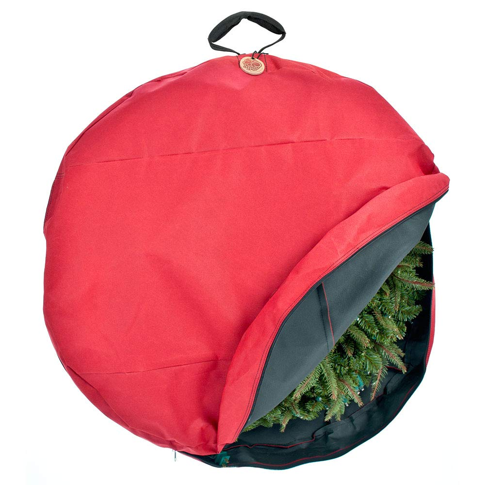Santa's Bags [36 Inch Wreath Storage Container - for Christmas Wreath up to 36 Inches in Diameter | Bag Hooks Directly to Your Wire Wreath Frames to Prevent Sagging and Deformed Wreaths (36-Inch) by Santa's Bags