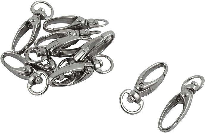 10pcs Silver Metal Lobster Trigger Swivel Clasps for Keyring Hook key