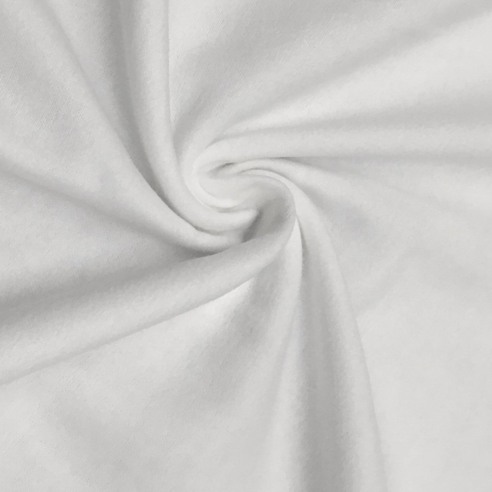 Cotton Flannel Fabric 45'' Wide Soft Warm Comfy 10+ Colors By The Yard (White, 10 YARD)