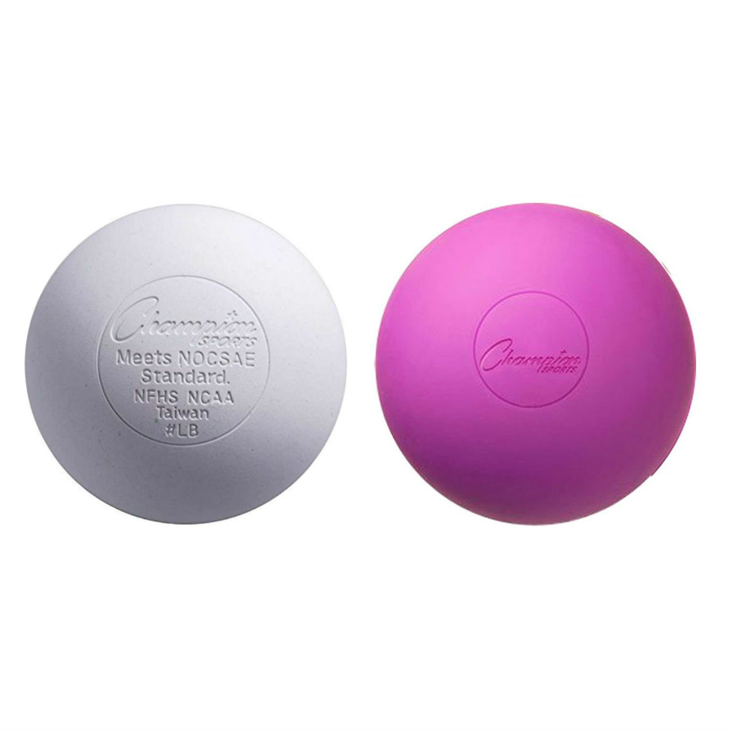 (White-Purple) - Lacrosse Balls (2-Pack) - Choose Your Colours B0711C8C5J Parent