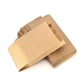 RUBY - 200 Kraft Bolsa de Papel marrón/bolsas de fiesta/calendario de adviento / (11cm x 20cm, 200 unids)
