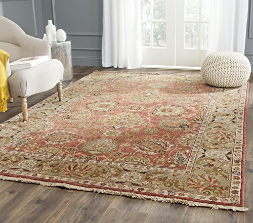 Safavieh Old World Collection OW117A Hand-Knotted Traditional Oriental Copper and Green Wool Area Rug 4 x 6