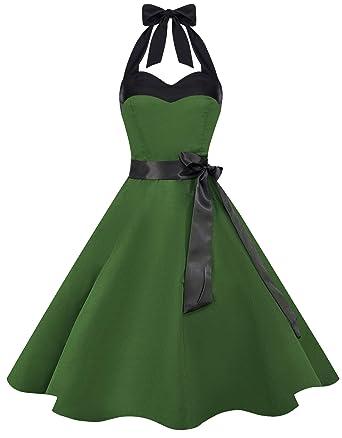 Kleid grun weibe punkte