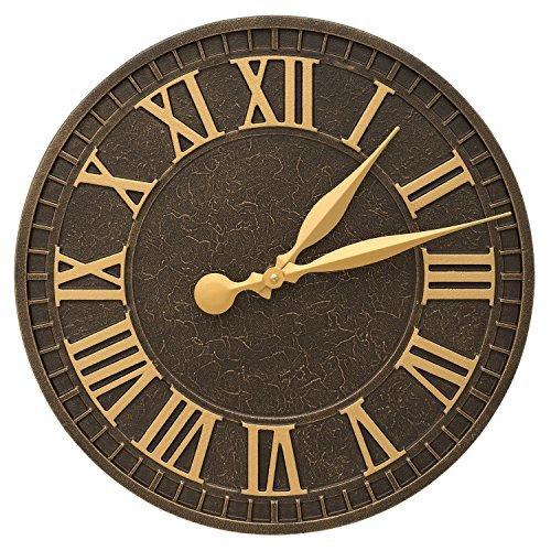 Bronze Indoor Outdoor Clock (Whitehall Geneva 16
