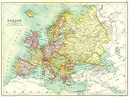 Pre Ww1 Map Europe.Europe Pre Ww1 Shows Austria Hungary Turkey Servia Trans Caucasia