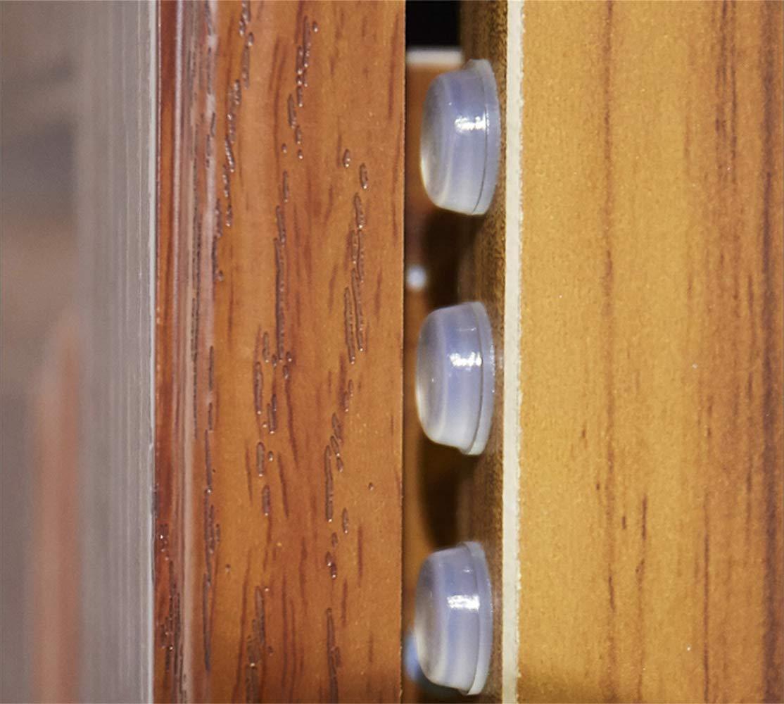 Tebery Lot de 124 patins de meubles en feutre et 64 pieds en caoutchouc transparent 5 mm d/épaisseur pour plus de durabilit/é
