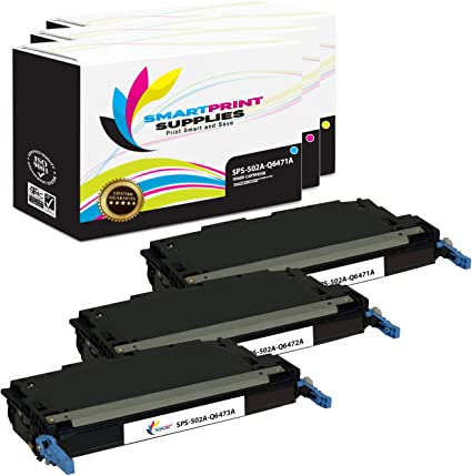 Smart Print Supplies Compatible 502A Q6471A Q6472A Q6473A Premium Toner Cartridge Replacement for HP Laserjet 3600 3800 CP3505 Printers Cyan, Magenta, Yellow 3 Pack