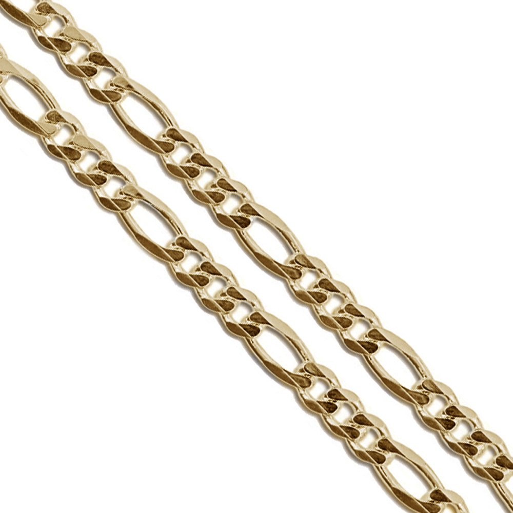 Stainless Steel Figaro Chain 4mm 5mm 5.9mm 6.9mm 9mm New Solid Link Necklace