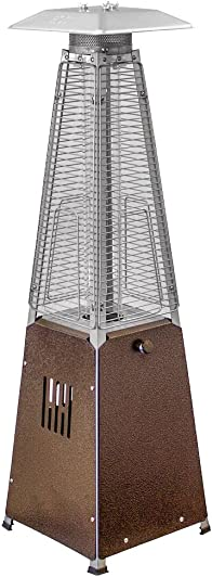 Hiland HLDS032-GTTHG Portable Propane Table Top Pyramid Glass Tube Patio Heater