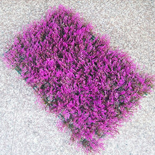 Floral Frog Candlesticks (Conjugal Bliss 1PC Plastic Grass 308 Head Purple Lavender Straw Turf Artificial Lawn Rug Family Balcony Garden Hotel Office Party Wedding Venue Decoration Photography Props Décor (purple))