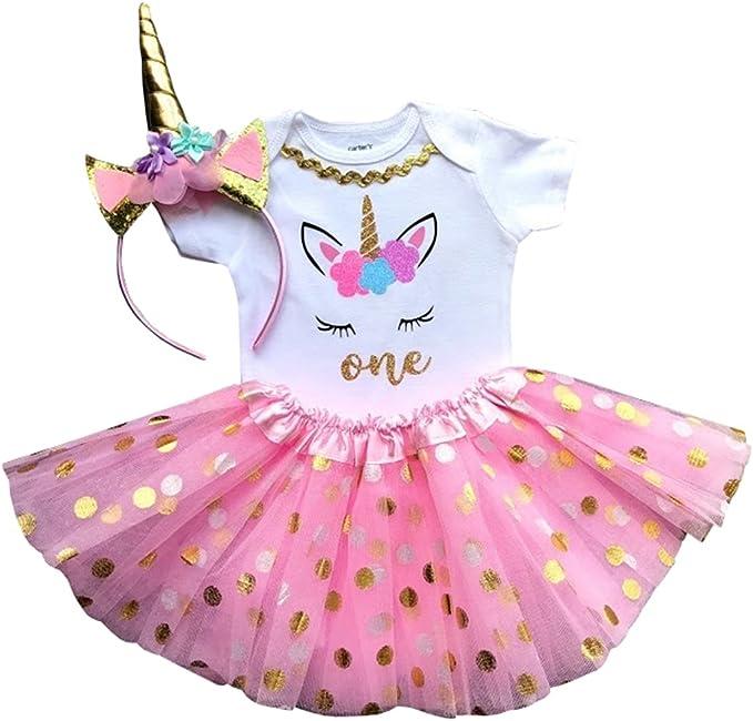 Amazon.com: 1er cumpleaños traje bebé niña tutú – unicornio ...
