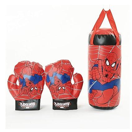 Amazon.com: Spiderman Saco de boxeo para niños con relleno ...