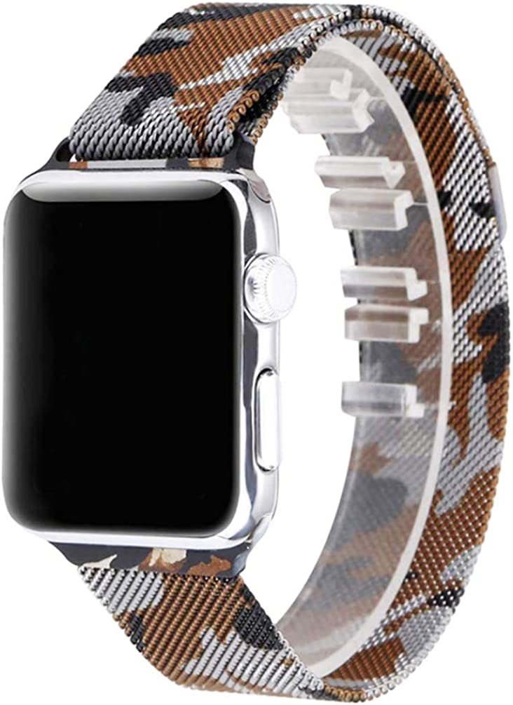 AiMarg Compatible for Apple Watch Band 38mm 40mm 42mm 44mm, Strap Mesh Stainless Steel for Replacement iWatch Band Series 6 5 4 3 2 1